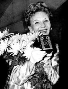 Broadway and film actress Mary Martin was known to sneak up on people with the Kodak Brownie Six-20.