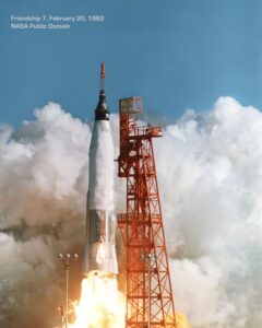 NASA's Friendship 7 Atlas launch February 20, 1962. NASA public domain.