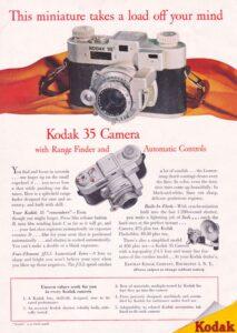 Ad for Kodak's Range Finder 35mm.