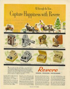 Revere Model 40 8mm Movie Camera Ad