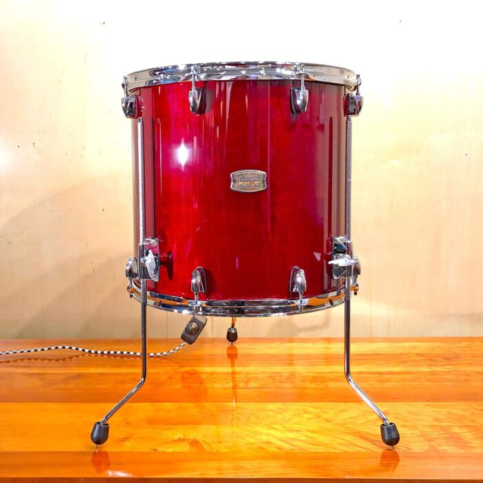 Front view of Rosie's Workshop original Red Drum Side Table Light. All parts are UL component listed (c UR us) for United States and Canada.