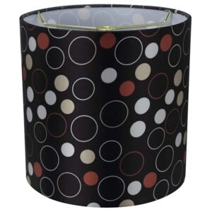 "Another view of Aspen Creative 8""x8""x8"" black, white, red lamp shade."