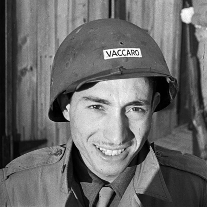 Picture of Tony Vaccaro in WWII.