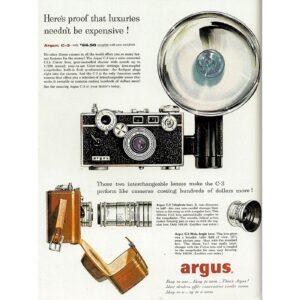 Vintage Argus C-3 brick ad.