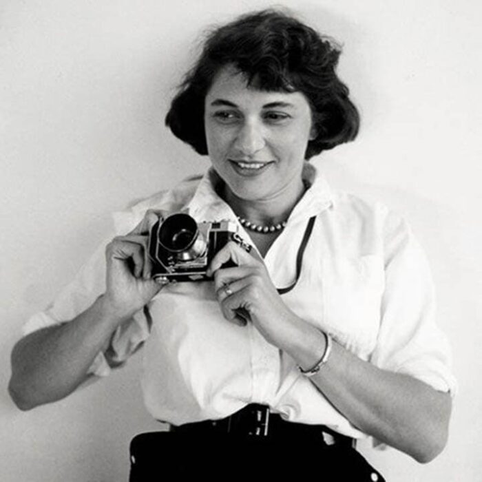Ruth Orkin, an award-winning photojournalist and filmmaker from the 1940s to 1970s. Some of her most important work was shot with the Kodak Retina 35 mm.