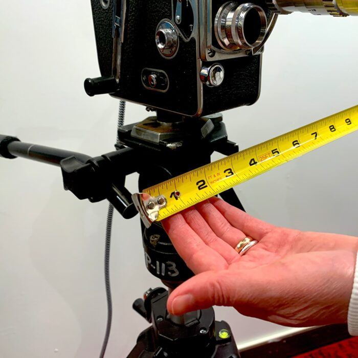 Measurements of Rosie's Workshop original Bolex H16 Floor Light. All parts are UL component listed (c UR us) for United States and Canada.
