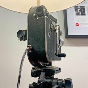Back view of Rosie's Workshop original Bolex H16 Floor Light. All parts are UL component listed (c UR us) for United States and Canada.