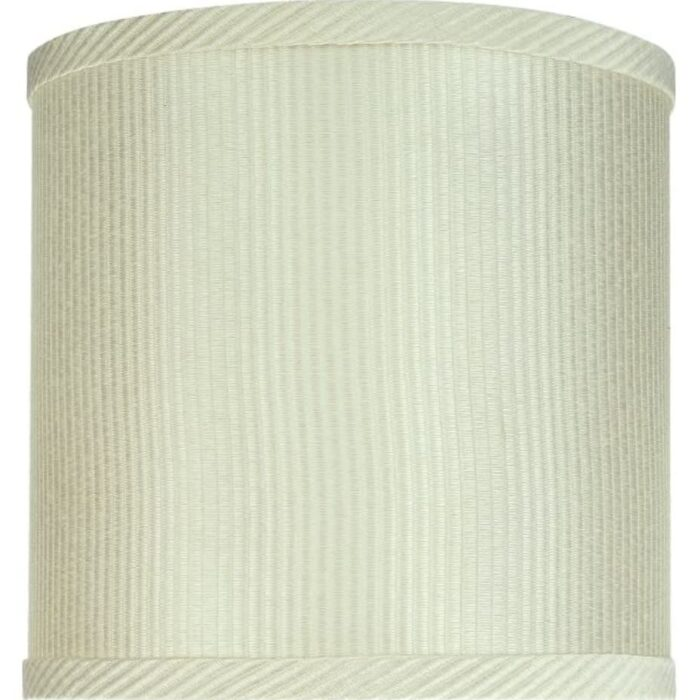 """Another view of Aspen Creative 8""""x8""""x8"""" off-white lampshade."""