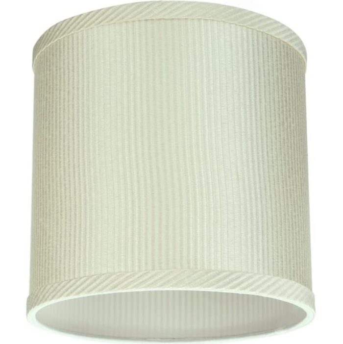 """View of Aspen Creative 8""""x8""""x8"""" off-white lampshade."""