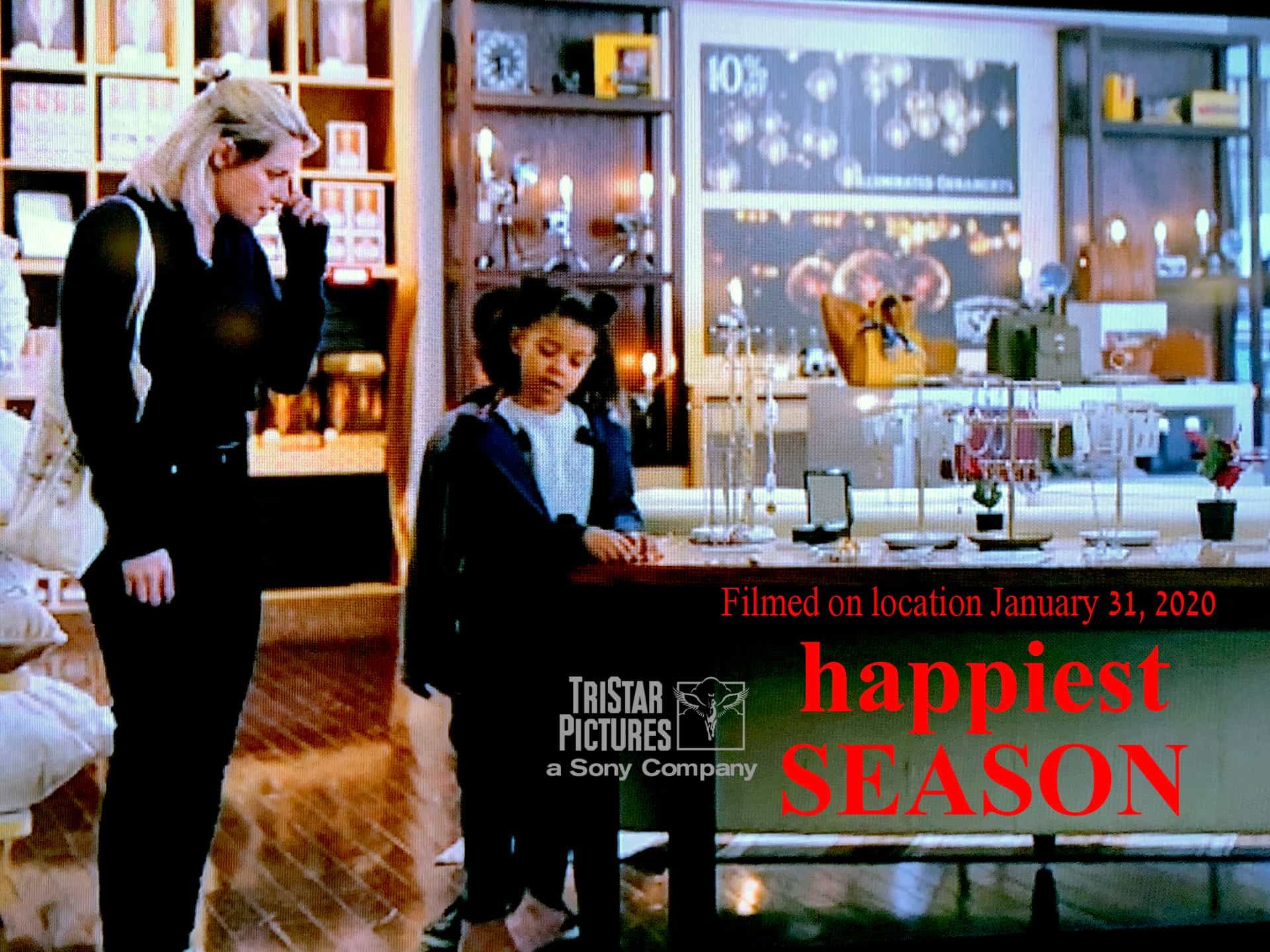 Rosie's Workshop was featured during the shoplifting scene in Happiest Season starring Kristen Stewart. Copyright Hulu and Sony/TriStar pictures.