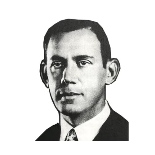 Square picture of Samuel Briskin who founded the Revere Camera Co. of Chicago in 1939.