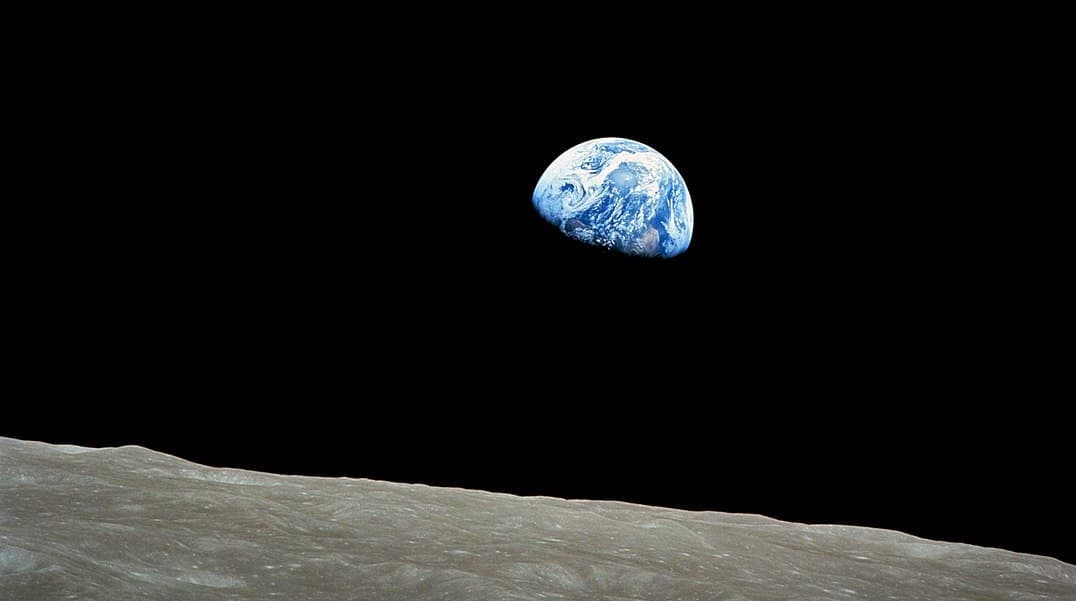 Earthrise, taken on December 24, 1968, by Apollo 8 astronaut William Anders.